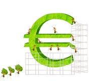 蚂蚁和欧元 库存照片