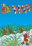 蚂蚁毛虫庆祝圣诞节 皇族释放例证