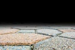 蚂蚁砖块路面地板, addin的拷贝空间眼睛视图  库存图片