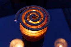 蚊子卷和香茅油蜡烛 免版税库存图片