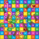 蛇和梯子 库存例证