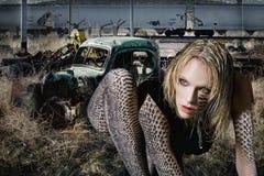 蛇妇女 免版税库存图片