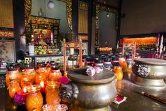 蛇寺庙槟榔岛马来西亚 免版税图库摄影