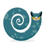 蛇猫 意想不到,神话宠物 逗人喜爱的似梦幻般的野兽头加州 向量例证