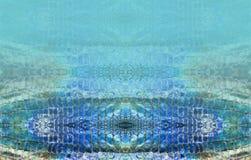 蛇皮马赛克皮革背景 免版税图库摄影