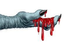 蛇神血淋淋的手 免版税图库摄影