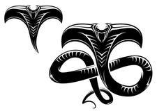 蛇纹身花刺 免版税库存照片