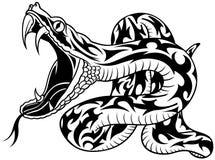 蛇纹身花刺 库存照片
