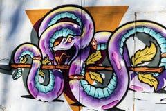 蛇街道画 库存图片