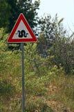 蛇警告 库存照片