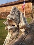 蛇雕塑 免版税库存图片