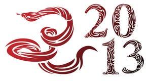 蛇- 2013年的符号 库存照片