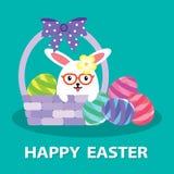 蛋兔宝宝 免版税图库摄影