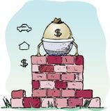 蛋墙壁 免版税库存照片