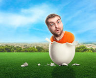 蛋壳的人 库存图片