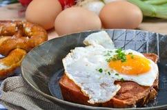 蛋大面包肉 免版税库存图片