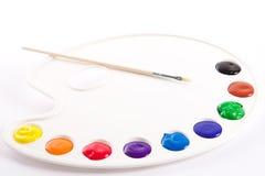 蛋彩画油漆 免版税库存照片