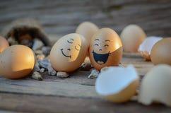 蛋微笑 免版税库存图片