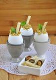 蛋早餐是开胃菜 免版税图库摄影