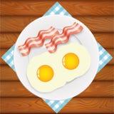 蛋烟肉早餐 免版税库存照片