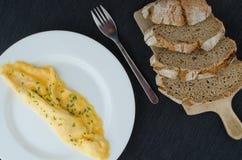 蛋煎蛋卷 免版税库存图片