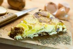 蛋玉米粉薄烙饼 库存图片