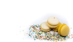 蛋白杏仁饼干关闭-  库存图片