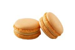 蛋白杏仁饼干桔子 免版税库存照片