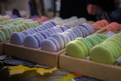 蛋白杏仁饼干-法国点心 免版税图库摄影