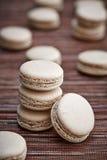蛋白甜饼曲奇饼堆  免版税图库摄影