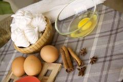 蛋白甜饼烹调 库存照片