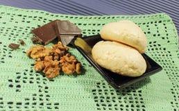 蛋白甜饼蛋糕 免版税库存图片