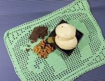 蛋白甜饼蛋糕 免版税图库摄影