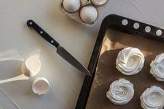 蛋白甜饼 库存照片