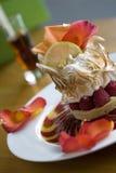 蛋白甜饼pavlova yuzu 图库摄影