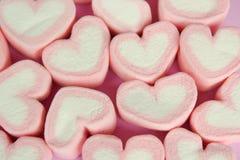 蛋白软糖与爱概念的心脏形状 库存图片