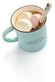 蛋白软糖和咖啡 免版税库存照片