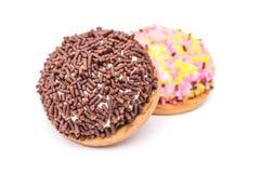蛋白软糖曲奇饼与洒 免版税图库摄影
