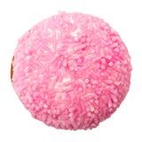 蛋白软糖曲奇饼用桃红色糖洒 免版税库存图片