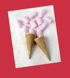 蛋白软糖甜点 库存照片