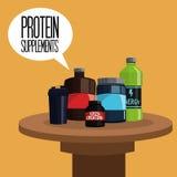 蛋白质补充设计,传染媒介例证象  库存例证