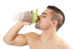 蛋白质震动体育健身健康生活方式 库存照片