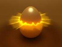 蛋破裂光 库存图片