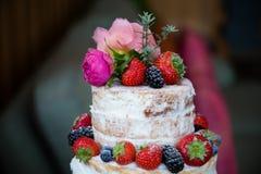 蛋糕上面 库存照片