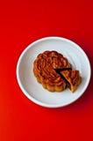 蛋糕中国人月亮 库存图片