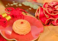蛋糕中国人月亮 免版税库存照片