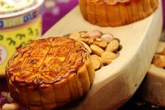 蛋糕中国人著名食物月亮 免版税库存照片