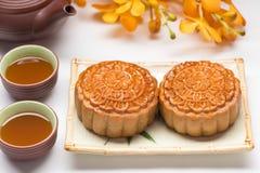 蛋糕中国人著名食物月亮 免版税图库摄影