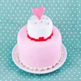 蛋糕为情人节 免版税库存照片