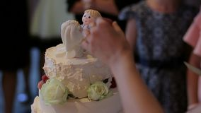 蛋糕剪切婚礼 股票视频